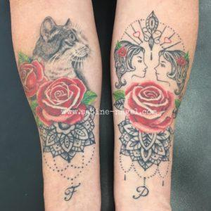 Rosen mit Mandala